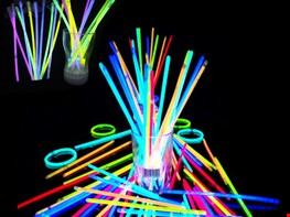 que phát sáng, vòng dạ quang, đèn led